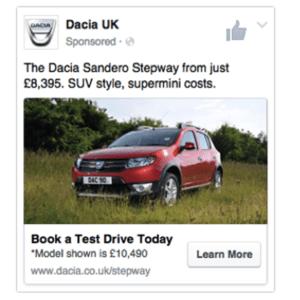 Daciao Facebook ad